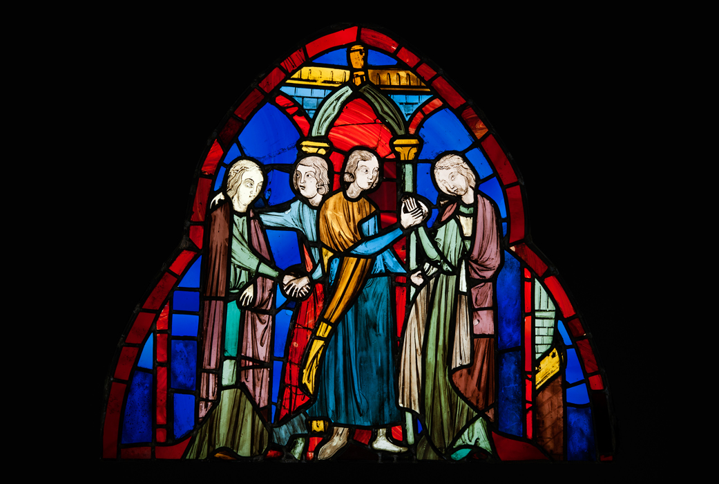 10# Double engagement. Stained-glass window from Sainte-Chapelle