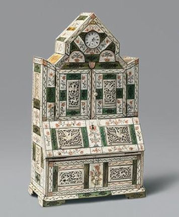 Cabinet and clock stand. Russia, Arkhangelsk Province, Kholmogory, mid-18th c.