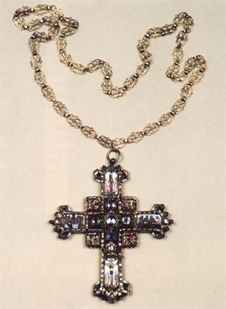 Pectoral cross with a chain