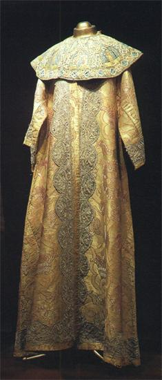 Platno (tight-fitting kaftan) with barmy